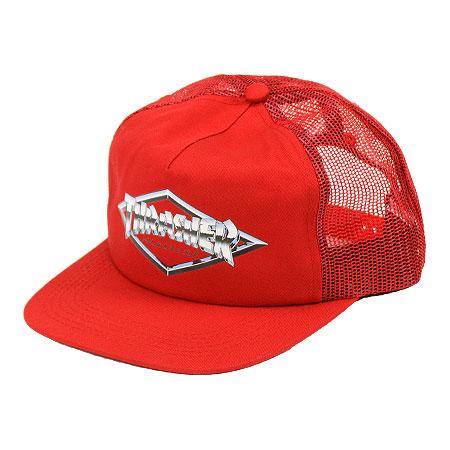 Thrasher Magazine Diamond Emblem Trucker Hat in stock at SPoT Skate Shop c44b85b3376