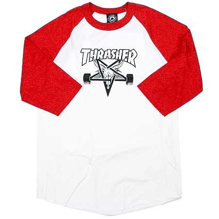 575bec2e70cf Thrasher Magazine Skate Goat 3 4 Sleeve Raglan T Shirt in stock at ...