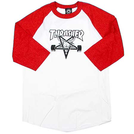 54c57eda4c92 Thrasher Magazine Skate Goat 3/4 Sleeve Raglan T Shirt in stock at ...