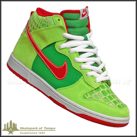 outlet store sale d7434 e0d9c Nike Dunk High Pro SB Shoes Dr Feelgood Dunks Forest Varsity Red