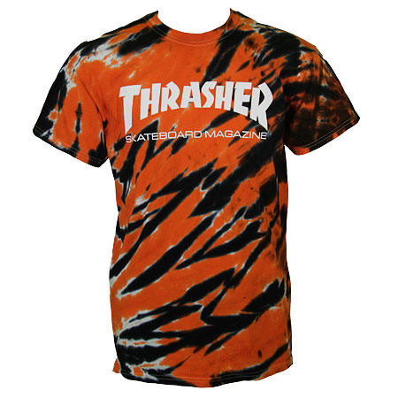 Thrasher Magazine Tiger Stripe Logo T Shirt in stock at SPoT Skate Shop 87d001bb4