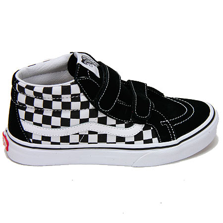 vans velcro shoes. vans youth sk8-mid reissue velcro shoes, black checkerboard/ white shoes r
