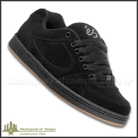 Black Suede eS Footwear Accel Shoes at SPoT Skate Shop