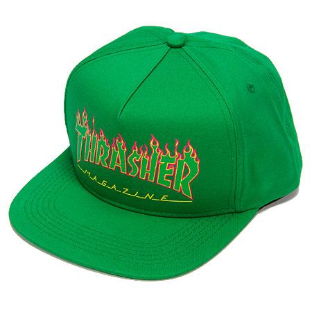0fd96f17bf8 Thrasher Magazine STRUCTURED FLAMES LOGO Snapback Skateboard Hat BLACK