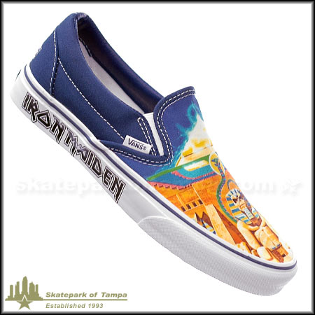 095b90bee7a697 Vans Classic Slip-On Iron Maiden Powerslave Shoes in stock at SPoT ...