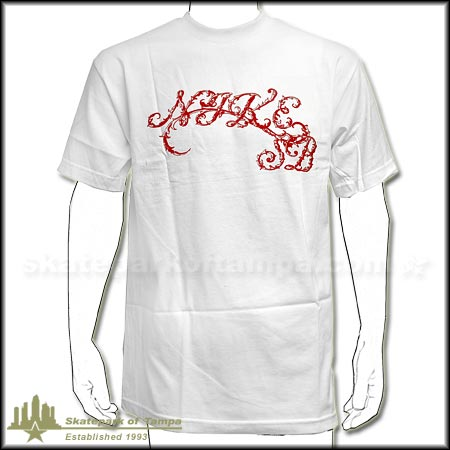 nike cursive t shirt in stock at spot skate shop