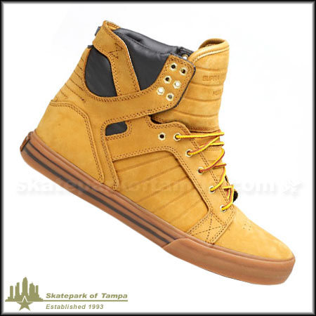 supra chad muska wheat skytop shoes in stock at spot skate. Black Bedroom Furniture Sets. Home Design Ideas