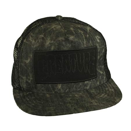 Creature Skateboards Patch Distressed Mesh Trucker Hat in stock at ... a0c402832969
