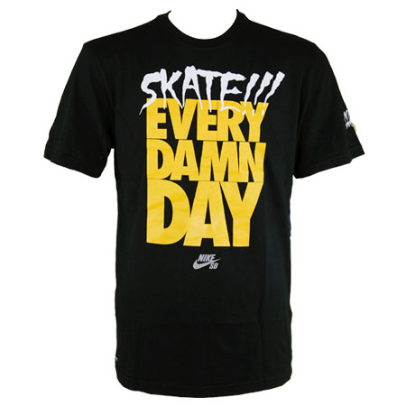 nike neckface skate every damn day t shirt in stock at