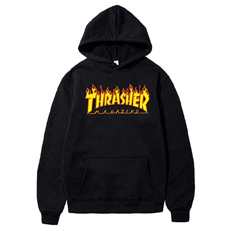 48e51c29e61c Thrasher Magazine Flame Logo Hooded Sweatshirt in stock at SPoT Skate Shop