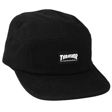 455e061f9e3 Thrasher Magazine Logo 5-Panel Strap-Back Hat in stock at SPoT Skate Shop