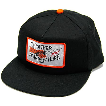 38b201d460a Thrasher Magazine Scarred Snap-Back Hat in stock at SPoT Skate Shop