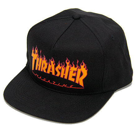 9d488354a93b Thrasher Magazine Flame Logo Structured Snap-Back Hat in stock at SPoT  Skate Shop