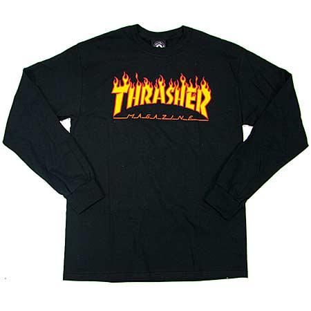 Thrasher Magazine Flame Logo Long Sleeve T Shirt in stock at SPoT Skate Shop 9e1dd4264b2b