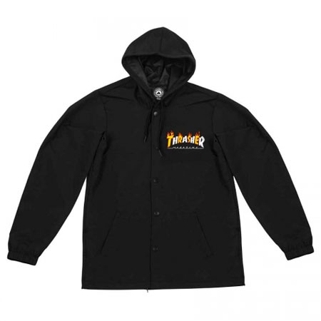 Thrasher Magazine Flame Mag Coaches Jacket