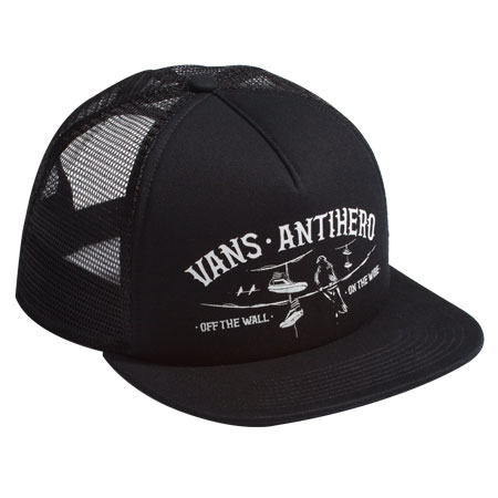 57f3434ff2de7 Vans Vans X Anti Hero Wired Trucker Hat in stock at SPoT Skate Shop