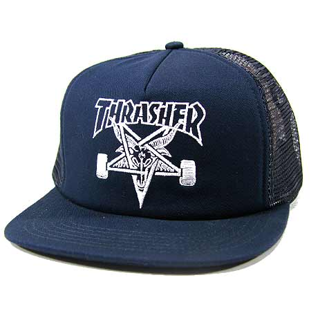 56c1f4e7af3 Thrasher Magazine Skate Goat Embroidered Mesh Hat in stock at SPoT ...