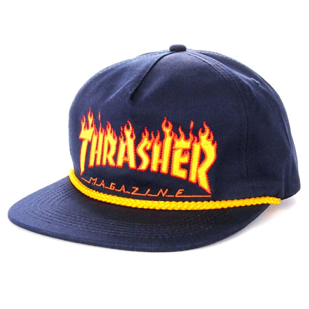 0531ae2924f Thrasher Magazine Flame Rope Snap Back Hat in stock at SPoT Skate Shop