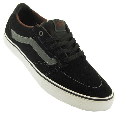Vans Lindero Shoes Black Charcoal Mahogany Dark Grey Black Suede Tz328546