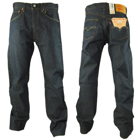 Levis 501 Original Shrink To Fit Jeans Knight Blue Rigid In Stock