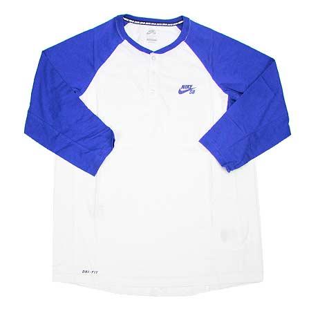 81fe9fb9 Nike SB Dri-Fit 3/4 Sleeve Henley T Shirt in stock now at SPoT Skate ...