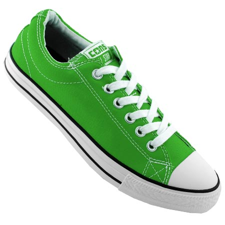 white and green converse
